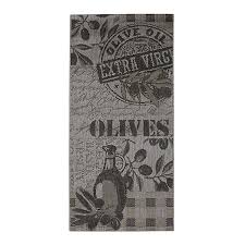 tapis de cuisine 67x140cm olives linge de maison linge de