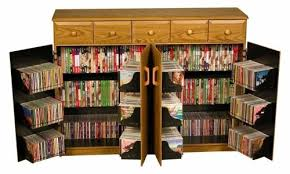 Dvd Storage Cabinet Cd Dvd Media Storage Cabinet With Drawers In Oak