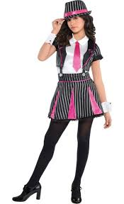 Pictures Halloween Costumes Party Girls Mob Doll Gangster Costume Party Halloween