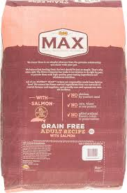 nutro max grain free recipe with salmon dry dog food 25 lb