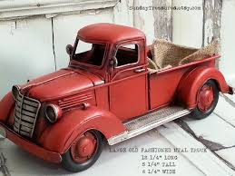 large metal old fashioned red truck christmas home decor farm