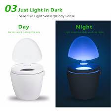 2pcs ywxlight ip65 smart bathroom toilet nightlight led seat