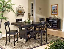 counter height dining room sets dark wood square pub table contemporary counter height gathering