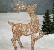 lighted reindeer lighted reindeer yard decorations decor