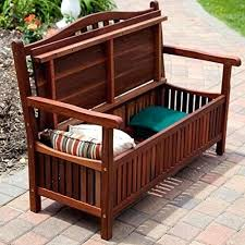 outdoor wooden storage bench living in curved back outdoor wood