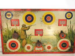 Cabin Decor Vintage Wyandotte Duck Hunting Tin Litho Shooting Dart Target Game