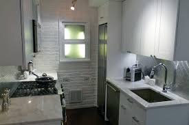 kitchen style white exposed brick wall for small kitchen design