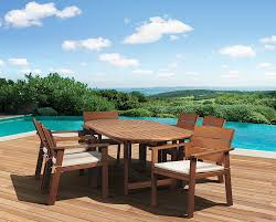 8 Piece Patio Dining Set - amazon com amazonia 7 piece nelson eucalyptus oval extendable