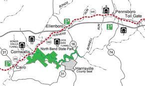 Map Of Ohio River by North Bend Rail Trail U2014 Cairo Wv To Ellenboro Wv