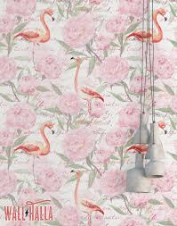 Pink Removable Wallpaper by Flamingo Vintage Flowers Wallpaper Removable Wallpaper