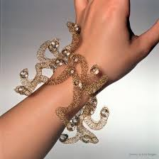 crochet jewelry bracelet images Fine wire jewelry of ema tanigaki gold silver and stainless steel jpg