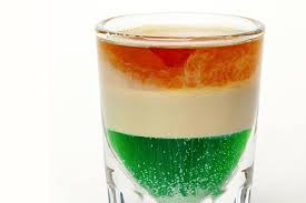Colors Of The Mexican Flag Irish Flag Layered Shooter Recipe