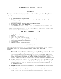 guidelines for what to include in a resume resume template resume introduction exles free resume