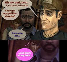 T Dogg Walking Dead Meme - lost stache kenny meme by molinnesmith on deviantart
