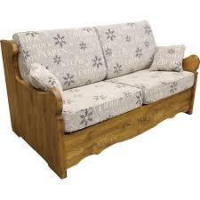 canape en bois canapé yret convertible en bois patiné bed express
