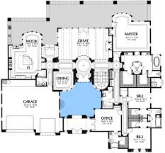 floor plans with courtyards spacious interior courtyard 16369md architectural designs