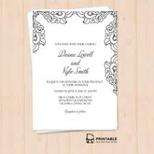 free pdf download wedding invitation template easy to edit and