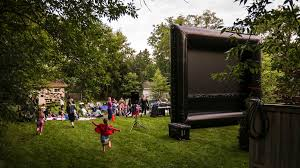how to create a backyard movie space sunset