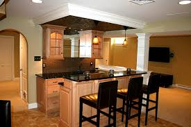 Home Bar Cabinet Ideas Furniture Excellent Basement Bar From Kitchen Cabinets Home