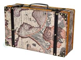 Old World Map by Old World Map Suitcase Vintiquewise