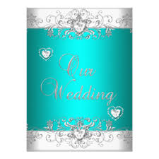 teal wedding invitations silver and white wedding invitations announcements zazzle
