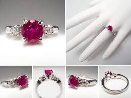 ruby engagement rings vintage and antique engagement rings from eragem chic vintage brides