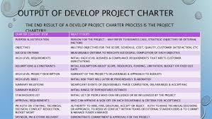 pmp u2013 pmbok 5th edition develop project charter