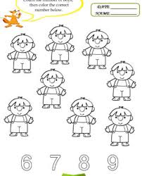 free kindergarten math worksheets number four in coloring can