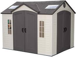 Backyard Storage House Lifetime 10x8 Plastic Backyard Shed W Double Doors 60001