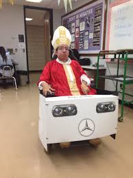 renault 4 pope turned my wheelchair into the popemobile this halloween