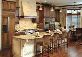 Canyon Kitchen Cabinets Wood Cabinets With Painted Island Finish With Chocolate