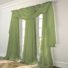 Green And White Curtains Decor Elegance Voile Green Sheer Curtain Bedbathhome