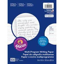 D Nealian Handwriting Worksheets Pacon Multi Program Handwriting Paper 1 2