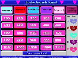 valentine u0027s day theme interactive jeopardy template with timer