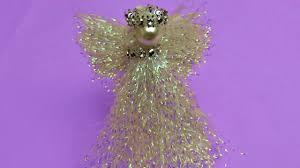 christmas craft beautiful iridescent angel very easy to make