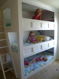 Plans For Making Loft Beds by My Hubby Made This Awesome Triple Bunk For Our Girls They Love It