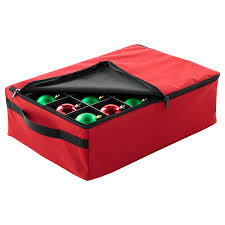 santa s 2 tray ornament storage the container store