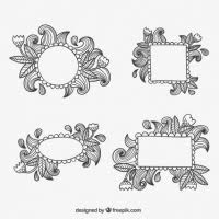 border ornament frame free vector graphic free found