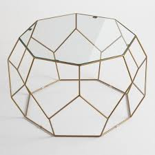 Glass And Metal Coffee Tables Faceted Metal Coffee Table With Glass Top World Market