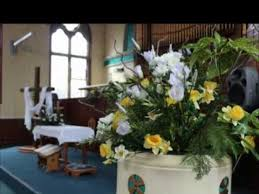 easter religious decorations easter floral decorations at methodist church shifnal