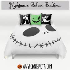 nightmare before bedding duvet skellington bed set