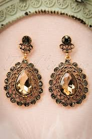 vintage earrings 20s brown drop earrings