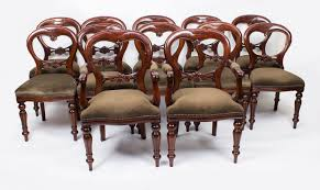 shield back dining room chairs set 12 victorian style balloon back dining chairs with carved shield
