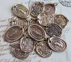 wax seal jewelry wax seal charm suegray seaglass