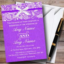 vintage burlap u0026 lace personalised wedding invitations the card zoo