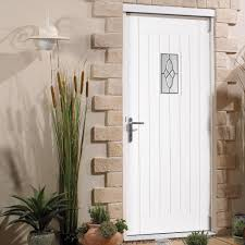 Cottage Doors Exterior Cottage Mahogany Door White Primed With Bevelled Style Tri Glazed