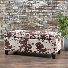 Animal Print Storage Ottoman Animal Print Storage Ottoman Cow Print Coffee Table Velvet Cow