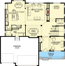 Bungalow Floor Plans With Basement Craftsman Bungalow With Optional Finished Basement 73341hs