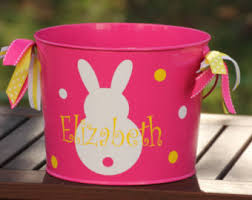 easter pail items similar to personalized easter basket monogrammed easter