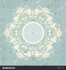 Background Invitation Card Lace Invitation Card Abstract Floral Background Stock Vector